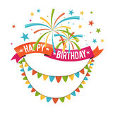 Birthday Ribbon Decor Stock Photography