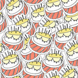 Birthday`s cake texture Royalty Free Stock Photography