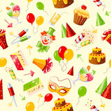 Birthday seamless background Stock Image