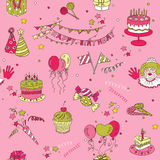 Birthday Seamless Background Stock Photography