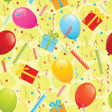 Birthday seamless pattern Stock Photography