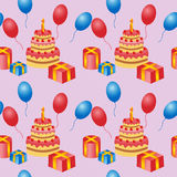 Birthday is a seamless pattern. Royalty Free Stock Images
