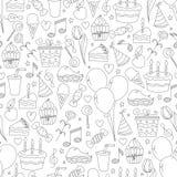Birthday seamless pattern. royalty free illustration