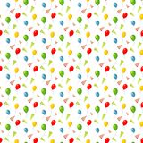 Birthday seamless pattern - colorful balloons seamles background. Vector illustration Royalty Free Stock Images