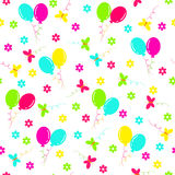 Birthday seamless,pattern Stock Images