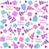Birthday seamless,pattern Stock Photos