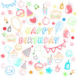 Birthday seamless pattern. Stock Image
