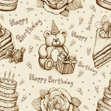 Birthday seamless pattern Royalty Free Stock Photo
