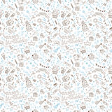 Birthday seamless pattern. Hand drawn illustration Royalty Free Stock Photo