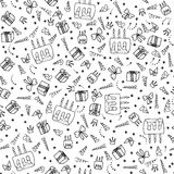 Birthday seamless pattern. Stock Photos