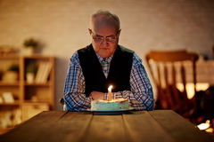 Birthday of senior man Royalty Free Stock Image