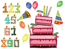 Birthday Set Stock Image