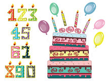 Birthday set Stock Photo