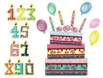Birthday set Stock Photo
