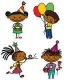 Birthday set Royalty Free Stock Photography