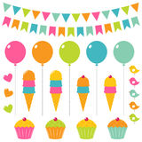Birthday set royalty free illustration
