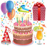 Birthday set Royalty Free Stock Photos
