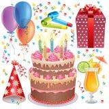 Birthday set Royalty Free Stock Photos