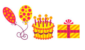 Birthday Set Royalty Free Stock Images