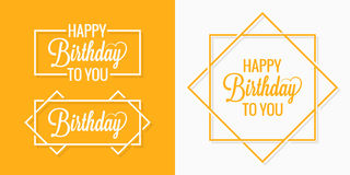 Birthday set badges labels Royalty Free Stock Images