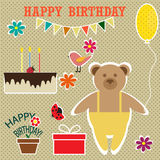 Birthday set Royalty Free Stock Images