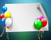Birthday sign with colorful balloons. Vector illustration of Birthday sign with colorful balloons Royalty Free Stock Photos