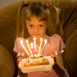 Birthday - six candles Stock Photography