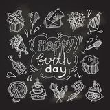 Birthday sketch chalkboard Royalty Free Stock Photo
