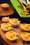 Birthday  smiley cupcakes Stock Images