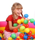 Birthday smiling girl  with game bal Royalty Free Stock Image