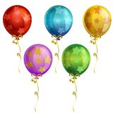 Birthday star balloon icon set. Additional file in eps 10 Royalty Free Stock Photo