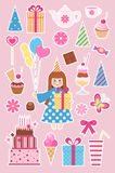 Birthday stickers Stock Photography
