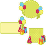 Birthday stickers Stock Photos
