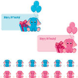 Birthday stickers Stock Image