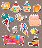 Birthday stickers Royalty Free Stock Image