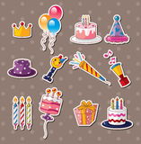Birthday stickers Stock Images