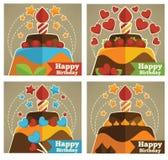 Birthday stickers Stock Photo