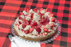 Birthday strawberry cake Royalty Free Stock Photo