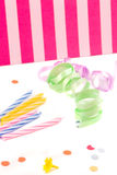 Birthday supplies Royalty Free Stock Image