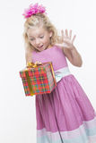 Birthday surprise gift Royalty Free Stock Images