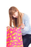 Birthday, surprised teenager Stock Images