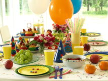 Birthday table Royalty Free Stock Image