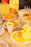 Birthday table Royalty Free Stock Photo