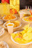 Birthday table Stock Photos