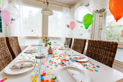 Birthday table Royalty Free Stock Photography