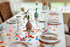 Birthday table Royalty Free Stock Photos