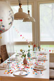 Birthday table Royalty Free Stock Photo