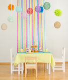 Birthday table with cakes. Royalty Free Stock Image