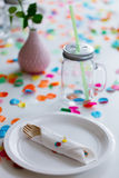 Birthday table Stock Image
