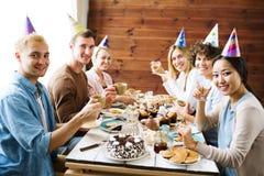 Birthday tea stock photos